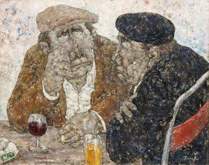 Akira Tanaka | Deux amis au café, 1976