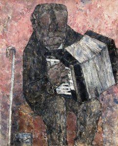 Akira Tanaka | L'accordéoniste à la canne, 1960