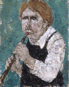 Akira Tanaka | Le joueur de flûte, 1980
