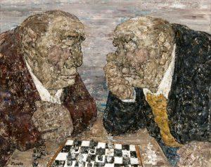 Akira Tanaka | Les joueurs d'échecs, 1964