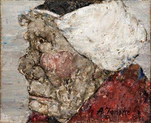 Akira Tanaka | Portrait de femme bretonne-2, 1969