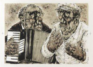 Estampes | Les musiciens de rue-2